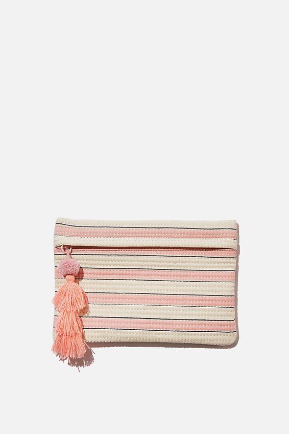 Pacific Pouch, PINK STRIPE