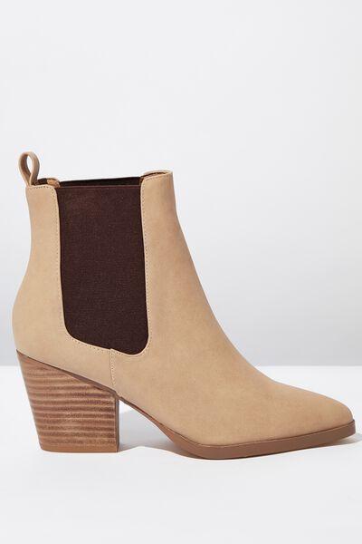 Sophia Gusset Boot, DARK TAUPE