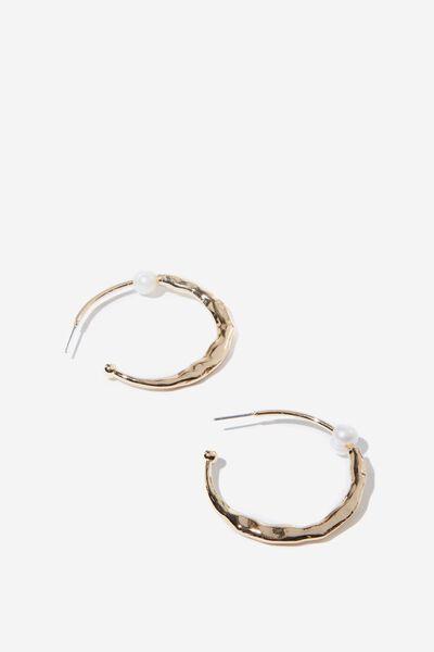 Osprey P&T Earring, GOLD/PEARL