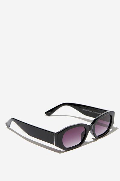 Annabelle Angular Sunglasses, BLACK
