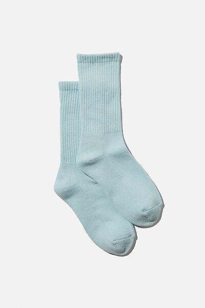 Club House Crew Sock, DAISY BLUE