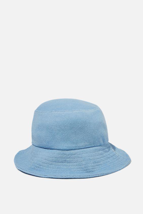 Bianca Bucket Hat, COLLEGIATE BLUE TERRY
