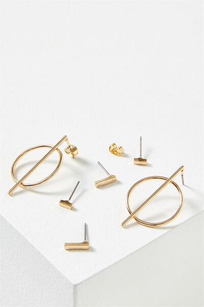 Rachael Core Stud Pack, GOLD