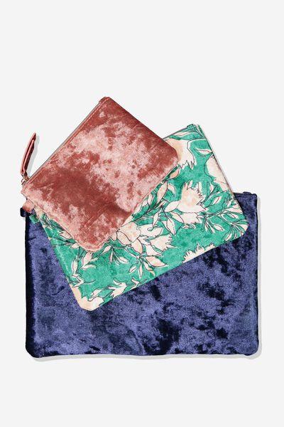 Savannah 3 Pack Cos Case, SIMPLE FLORAL