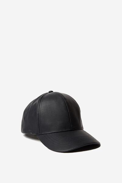 Kaia Cap, BLACK PU