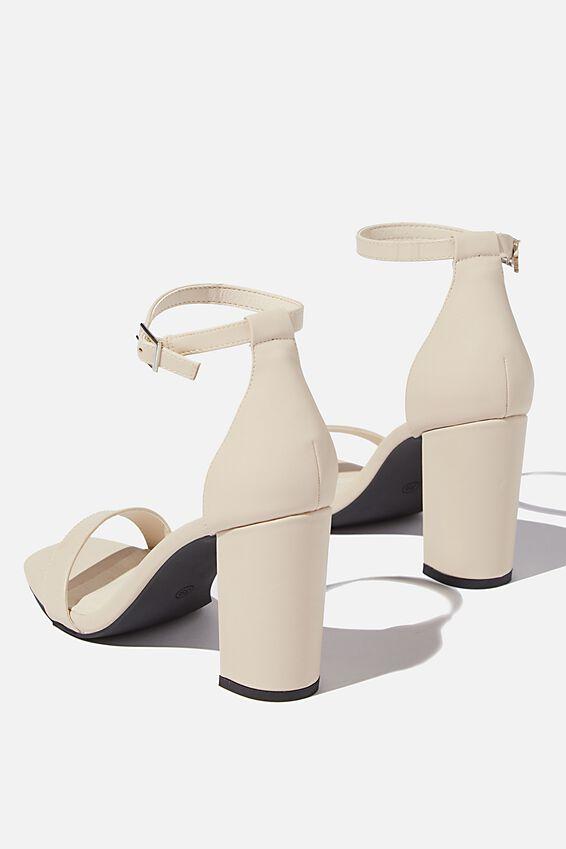 San Square Toe Heel, BONE PU