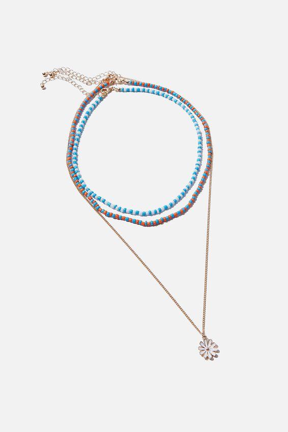 San Antonio Necklace, BLUE DAISY