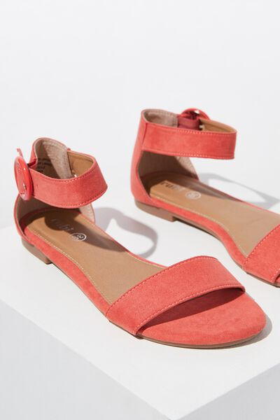 Francesca Single Vamp Sandal, SUNSET RED