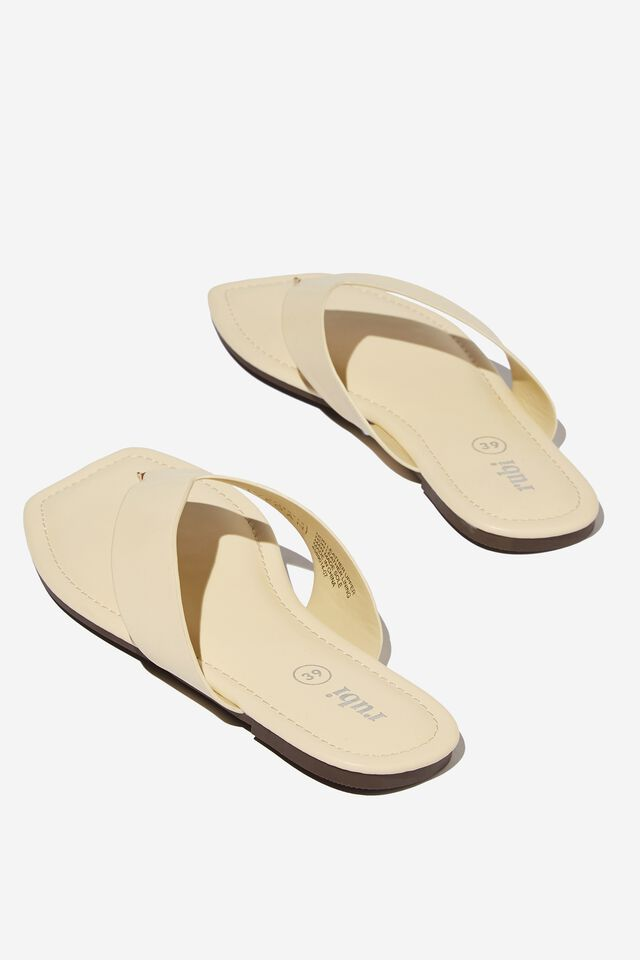 Everyday Molly Toe Post Sandal, BUTTER PU