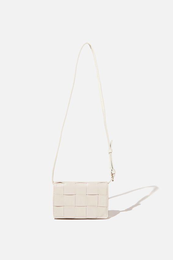 Christy Woven Cross Body Bag, ECRU