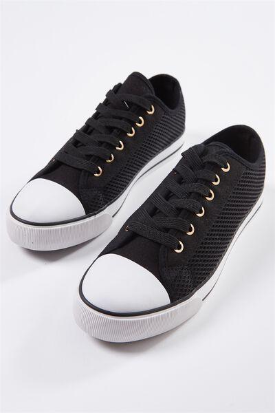 Jodi Low Rise Sneaker 1, BLACK MESH