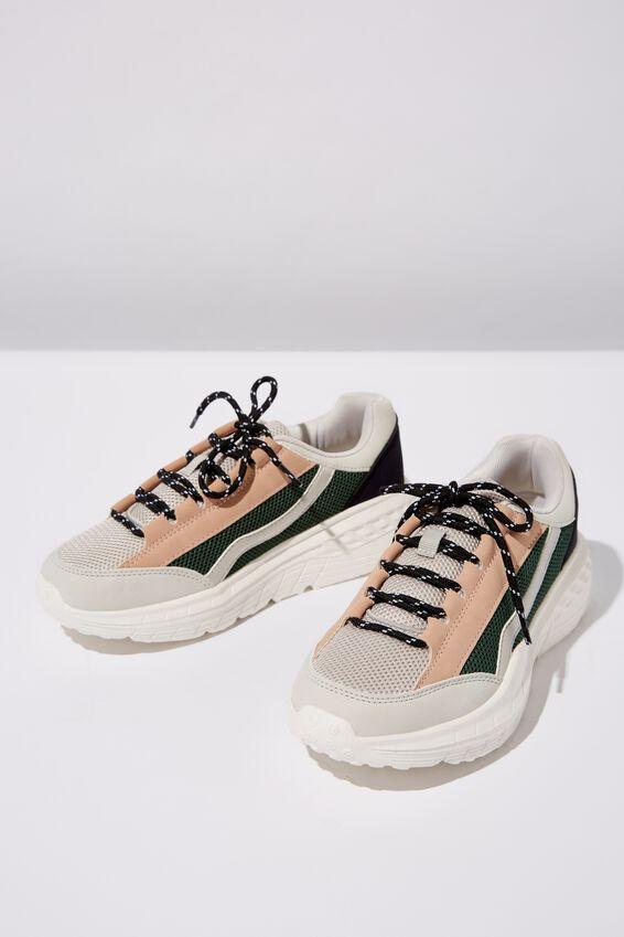 Tori Wedge Tech Sneaker, GREY COLOUR BLOCK