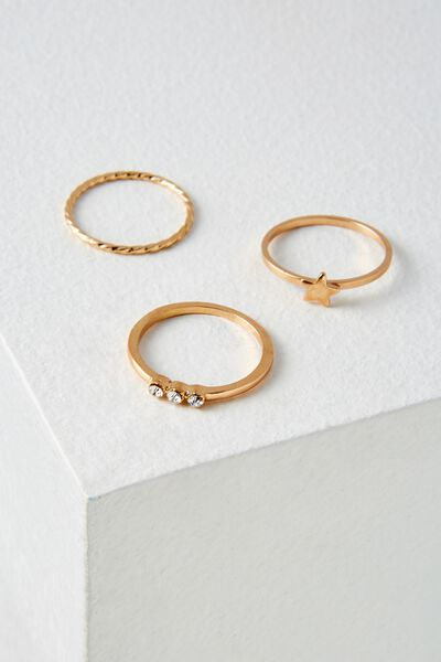 Havana Ring Set, GOLD