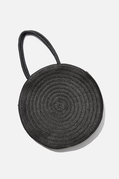 Round And Round Large Tote, BLACK