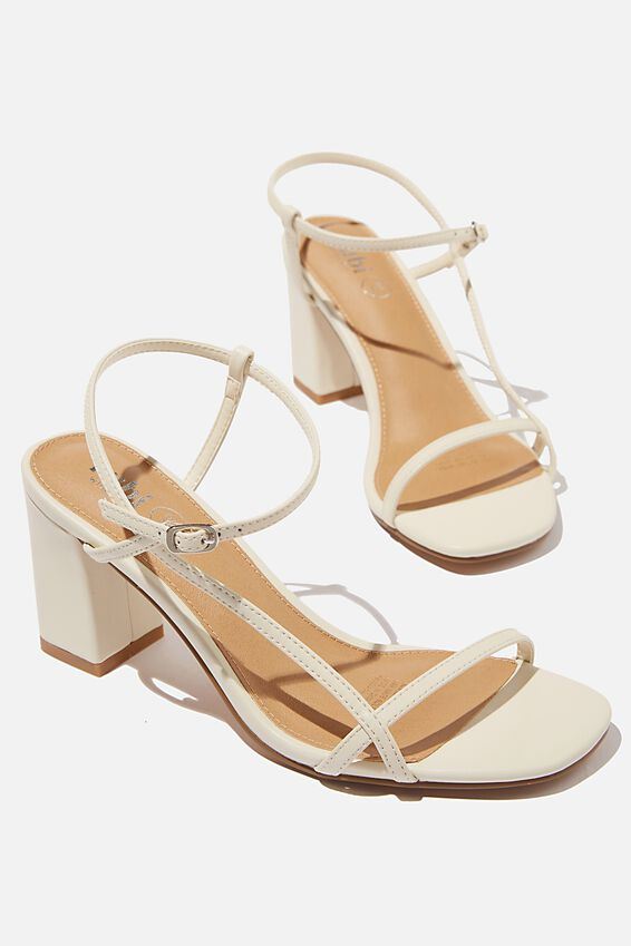 Wide Fit Hannah Thin Strap Heel, STONE