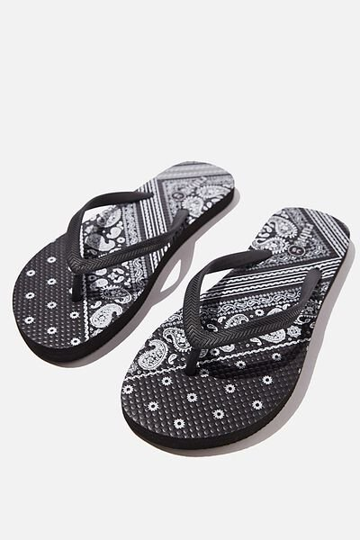 The Rubi Flip Flop, BLACK BANDANA