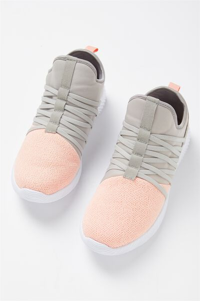 Faith Sock Trainer, PINK GREY