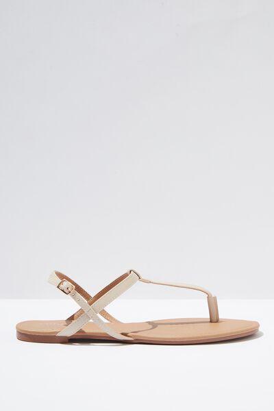 Everyday Toe Post Sandal, STONE PU