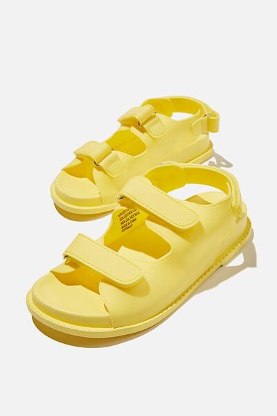Mimi Moulded Sporty Sandal, LEMON