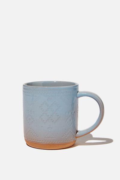 All Day Mug, BLUE AZTEC