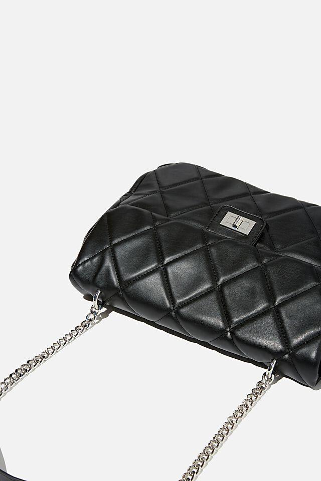Hailey Oversized Underarm Bag, BLACK