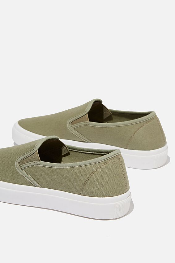 Harper Slip On, KHAKI CANVAS