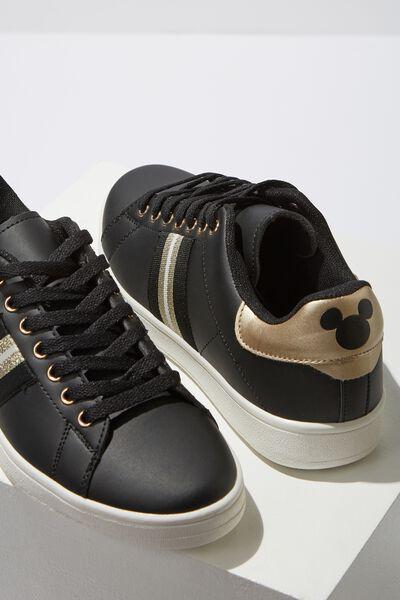Mickey Cathryn Sneaker, BLACK MICKEY LCN