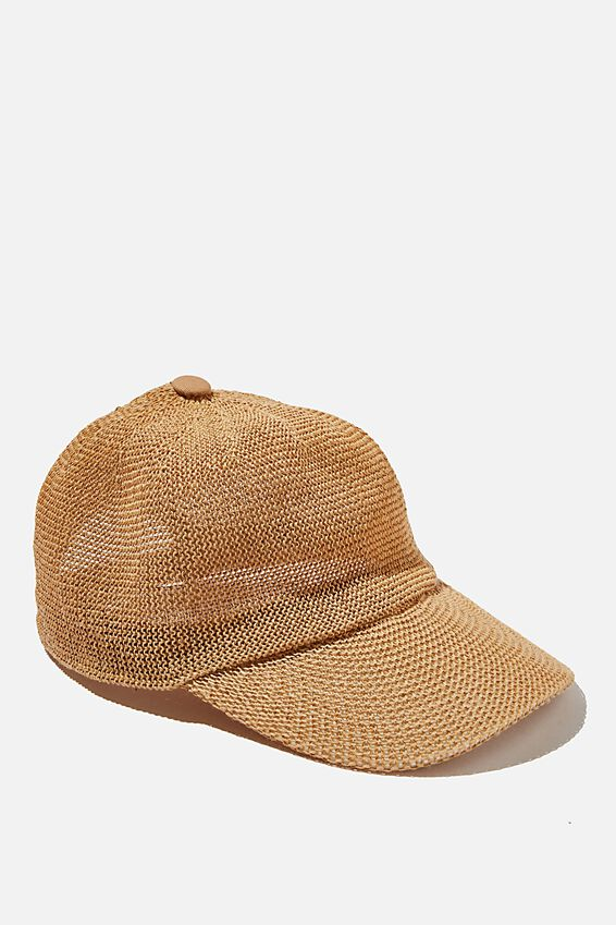 Whitney Woven Cap, NATURAL