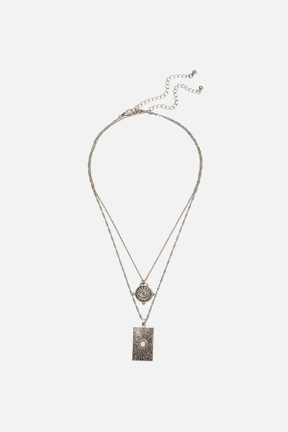 Ray Of Light Trinkets Necklace, SILVER
