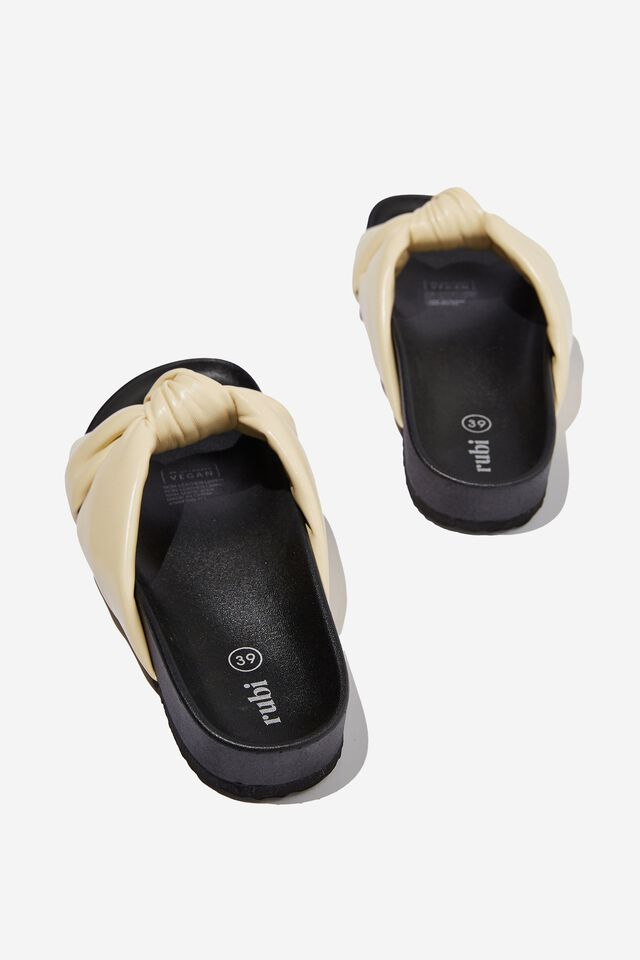 Hitch Knotted Sporty Slide, BUTTER PU