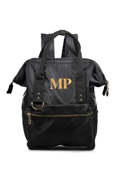 Personalised Blaze Backpack, BLACK/GOLD