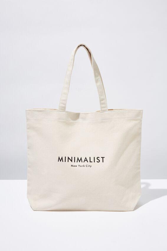 Minimalist Washed Tote, NATURAL
