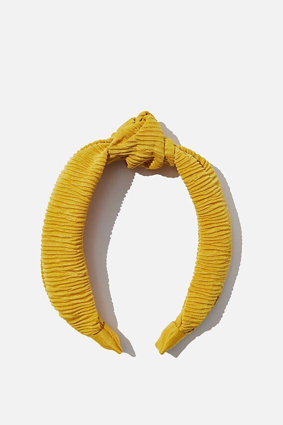 Nadia Knot Headband, SPRUCE YELLOW
