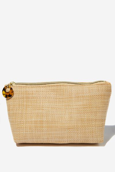 Body Home Spa | Pamper Pouch Cosmetic Case, NATURAL