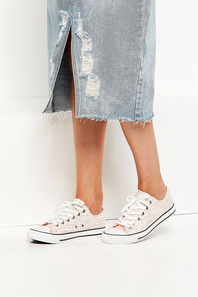 Jodi Low Rise Sneaker 1, NEON BOUCLE