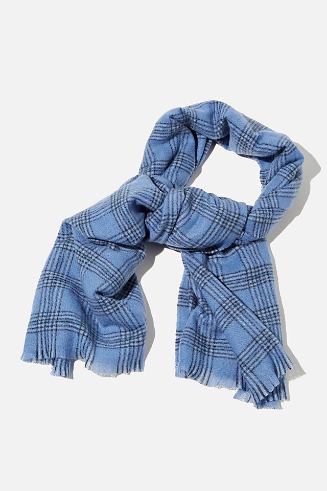 Millie Mid Weight Scarf, AIR BLUE CHARLOTTE CHECK