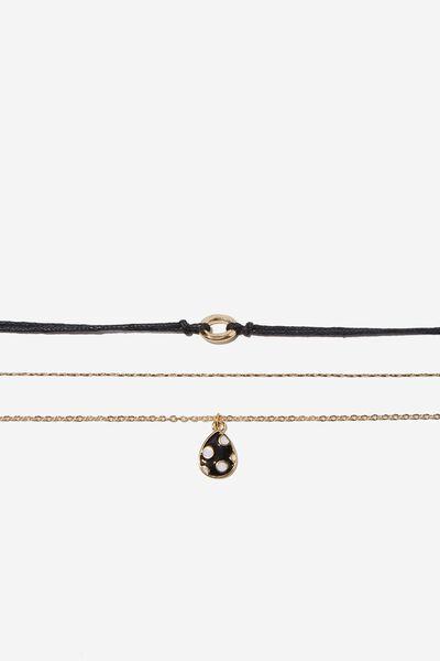Courtney Romance Bracelet Pack, BLACK
