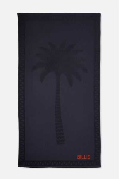 Personalised Love A Jacquard Towel, NAVY PALM