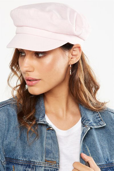 Baker Boy Cap, BLUSH CHALK