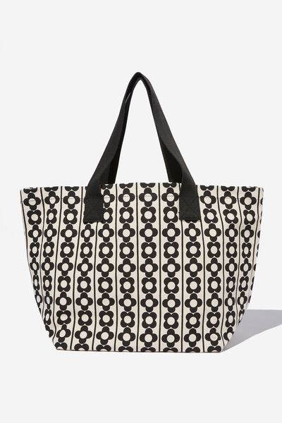 Everyday Canvas Tote, DELILAH DAISY/BLACK