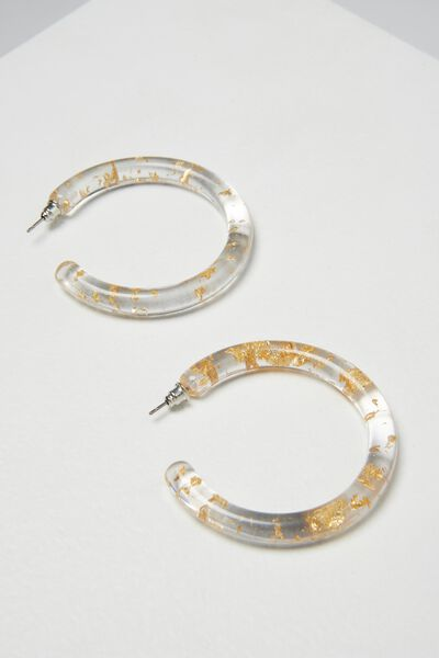 Connecticut Earring, GOLD FLAKE