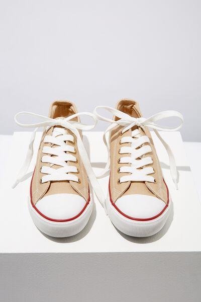 Jodi Low Rise Sneaker 1, CAMEL CANVAS