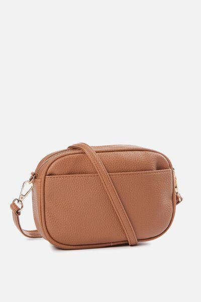 Cameron Cross Body Bag, TAN PEBBLE