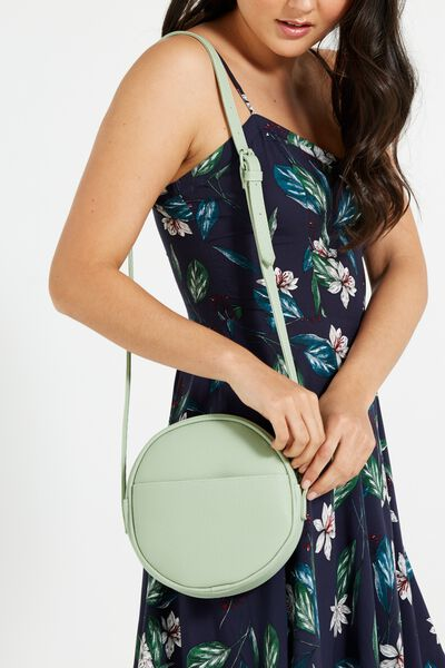 Romy Round Cross Body Bag, MINT