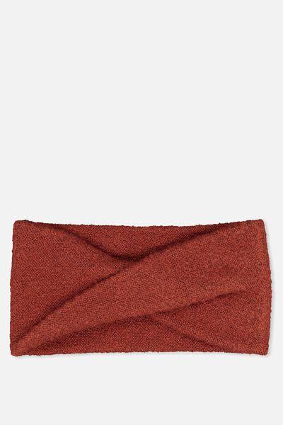 Sarah Knit Headband, ROSEWOOD