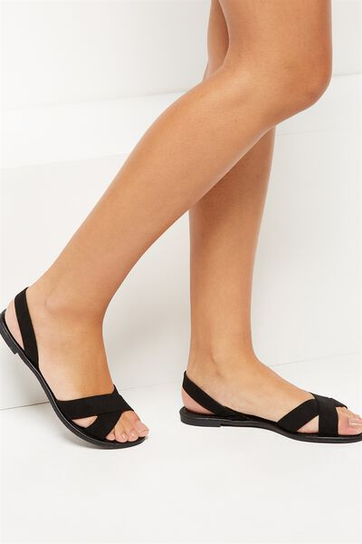 Everyday Banting Crossover Sandal, BLACK MICRO