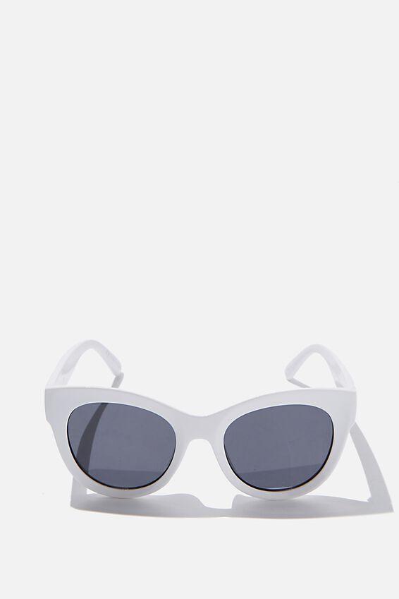 Wendi Cateye Sunglasses, WHITE