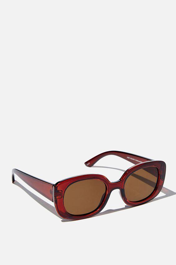 Jade Square Sunglasses, ESPRESSO