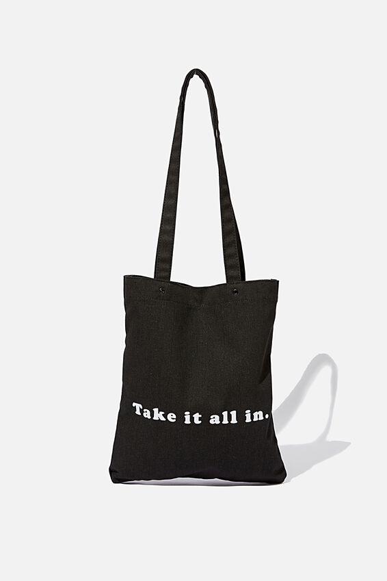 Take It All In Tote, BLACK