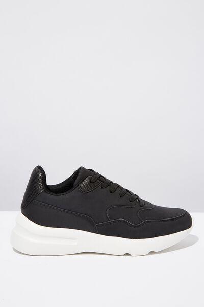 Cherry Chunky Sneaker, BLACK MULTI